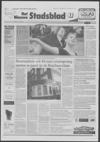 Het Nieuwe Stadsblad 2001-11-07