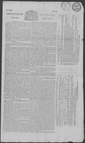 Rotterdamse Courant 1836-04-09