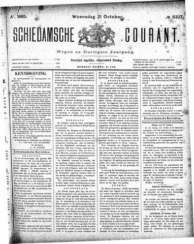 Schiedamsche Courant 1885-10-21