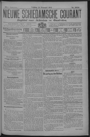 Nieuwe Schiedamsche Courant 1913-02-21
