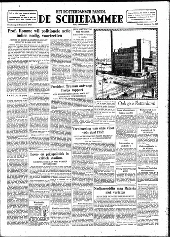 Rotterdamsch Parool / De Schiedammer 1947-09-25