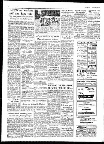 Rotterdamsch Parool / De Schiedammer 1955-09-01