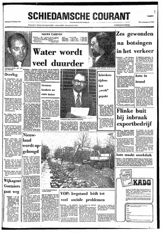 Rotterdamsch Nieuwsblad / Schiedamsche Courant / Rotterdams Dagblad / Waterweg / Algemeen Dagblad 1974-10-29