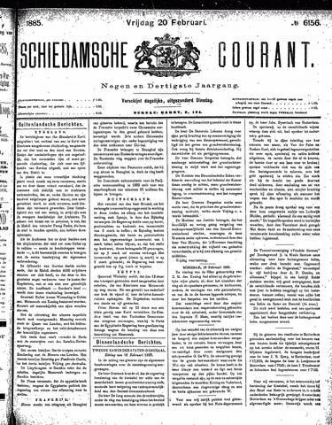 Schiedamsche Courant 1885-02-20