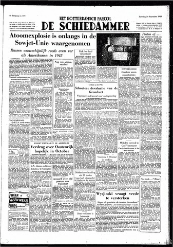 Rotterdamsch Parool / De Schiedammer 1949-09-24