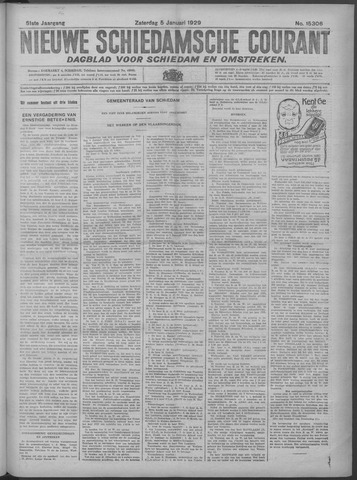 Nieuwe Schiedamsche Courant 1929-01-05