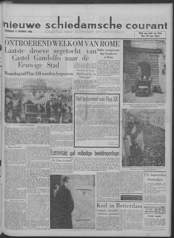 Nieuwe Schiedamsche Courant 1958-10-11
