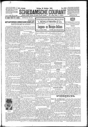 Schiedamsche Courant 1931-10-16