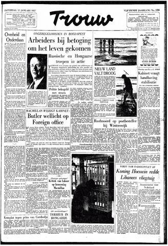 Trouw / De Rotterdammer 1957-01-12