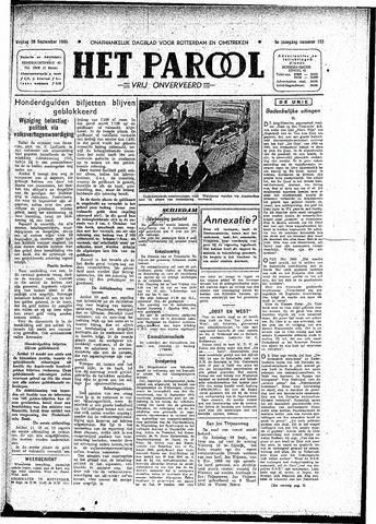Rotterdamsch Parool / De Schiedammer 1945-09-28