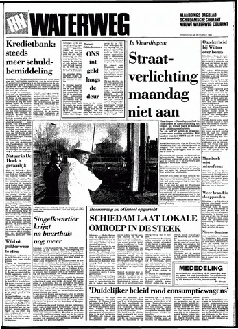 Rotterdamsch Nieuwsblad / Schiedamsche Courant / Rotterdams Dagblad / Waterweg / Algemeen Dagblad 1983-11-24