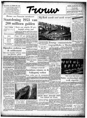 Trouw / De Rotterdammer 1953-02-23