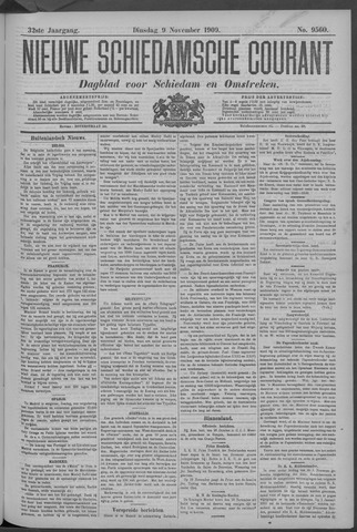 Nieuwe Schiedamsche Courant 1909-11-09