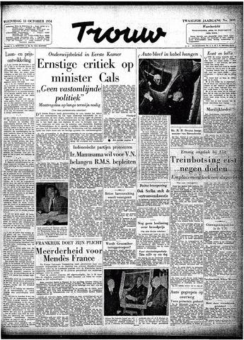 Trouw / De Rotterdammer 1954-10-13
