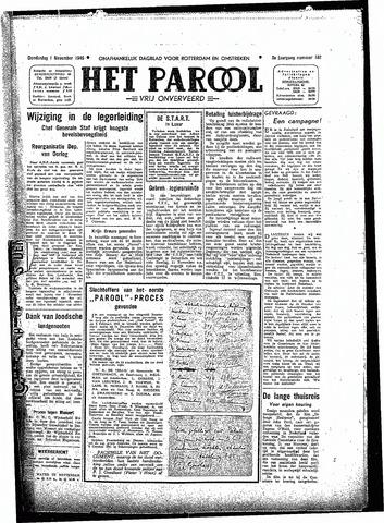 Rotterdamsch Parool / De Schiedammer 1945-11-01