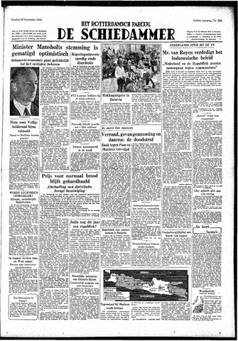 Rotterdamsch Parool / De Schiedammer 1948-09-28