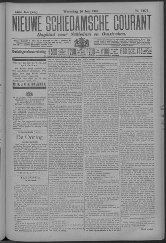 Nieuwe Schiedamsche Courant 1918-06-26