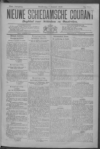 Nieuwe Schiedamsche Courant 1909-01-07