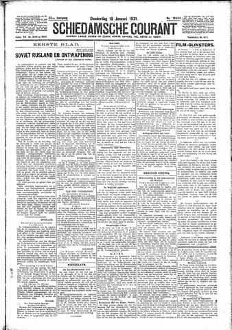 Schiedamsche Courant 1931-01-15