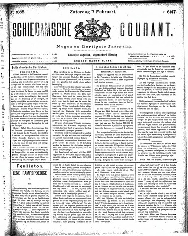 Schiedamsche Courant 1885-02-07