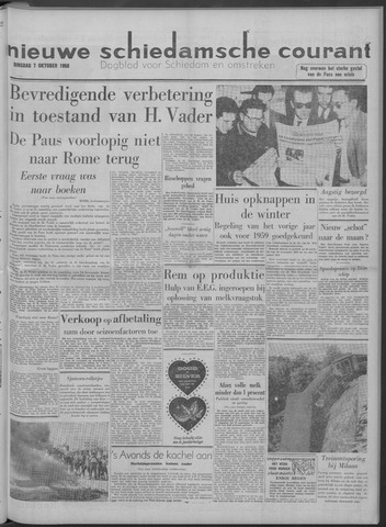 Nieuwe Schiedamsche Courant 1958-10-07