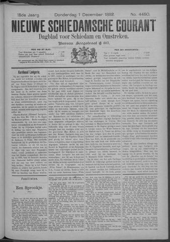 Nieuwe Schiedamsche Courant 1892-12-01