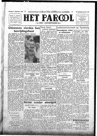 Rotterdamsch Parool / De Schiedammer 1945-09-17