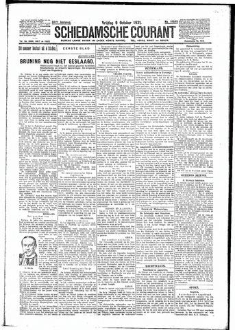 Schiedamsche Courant 1931-10-09