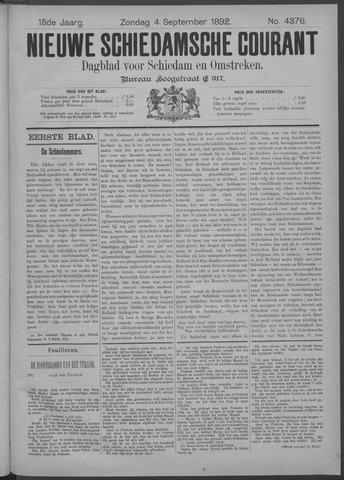 Nieuwe Schiedamsche Courant 1892-09-04