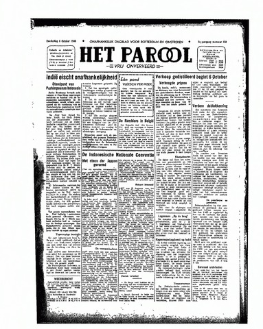 Rotterdamsch Parool / De Schiedammer 1945-10-04