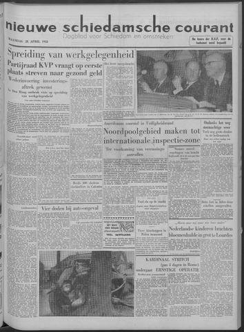 Nieuwe Schiedamsche Courant 1958-04-28