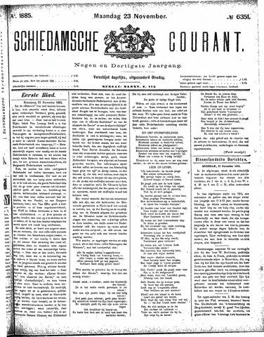 Schiedamsche Courant 1885-11-23