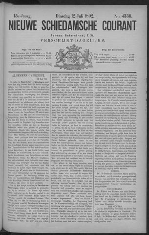 Nieuwe Schiedamsche Courant 1892-07-12