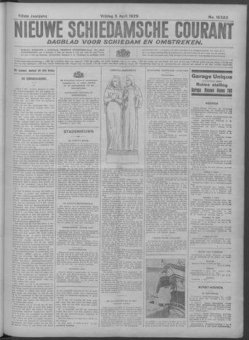 Nieuwe Schiedamsche Courant 1929-04-05