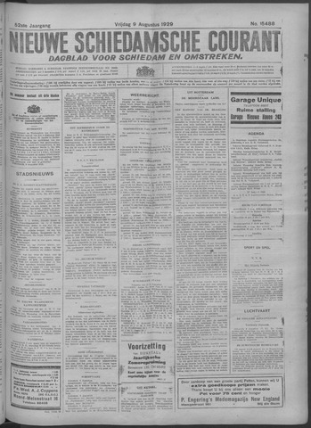 Nieuwe Schiedamsche Courant 1929-08-09