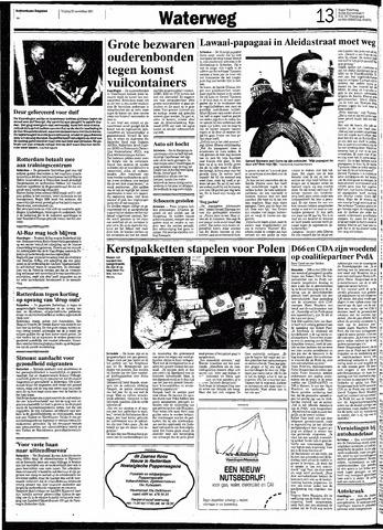 Rotterdamsch Nieuwsblad / Schiedamsche Courant / Rotterdams Dagblad / Waterweg / Algemeen Dagblad 1991-11-22
