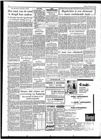 Rotterdamsch Parool / De Schiedammer 1955-08-30
