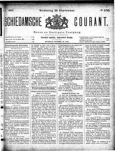 Schiedamsche Courant 1883-09-26