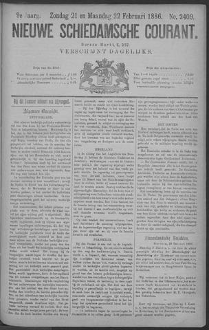 Nieuwe Schiedamsche Courant 1886-02-22