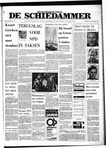 Rotterdamsch Parool / De Schiedammer 1968-09-30