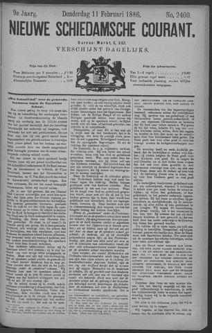 Nieuwe Schiedamsche Courant 1886-02-11