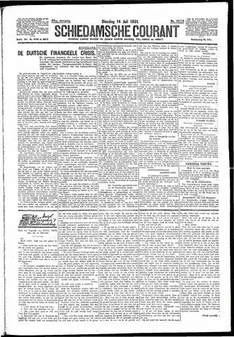 Schiedamsche Courant 1931-07-14