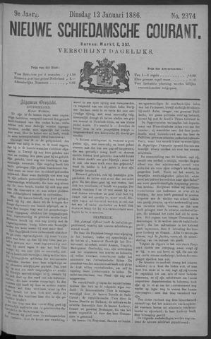 Nieuwe Schiedamsche Courant 1886-01-12