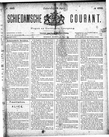 Schiedamsche Courant 1885-04-18