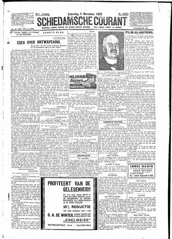 Schiedamsche Courant 1933-11-04