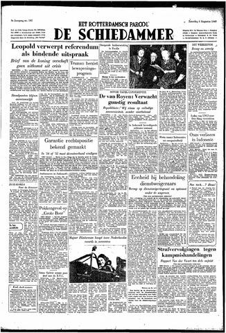 Rotterdamsch Parool / De Schiedammer 1949-08-06