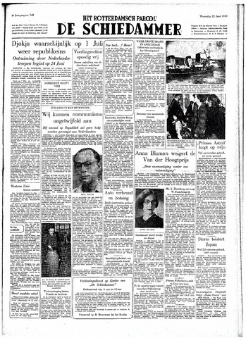 Rotterdamsch Parool / De Schiedammer 1949-06-22