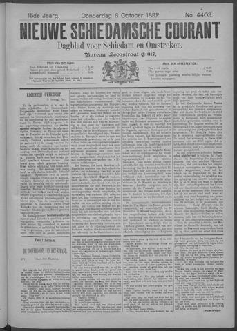 Nieuwe Schiedamsche Courant 1892-10-06
