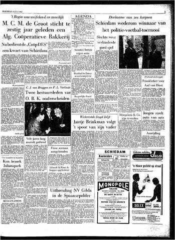 Rotterdamsch Parool / De Schiedammer 1962-07-04
