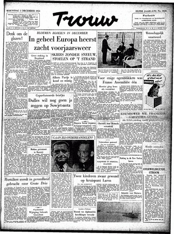 Trouw / De Rotterdammer 1953-12-02
